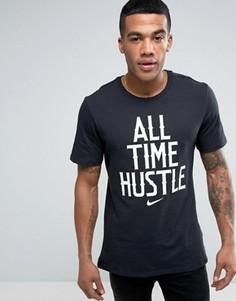 Черная футболка с крупной надписью Nike 834711-010 - Черный