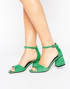 Зеленые сандалии на среднем каблуке Lost Ink Maci - Зеленый