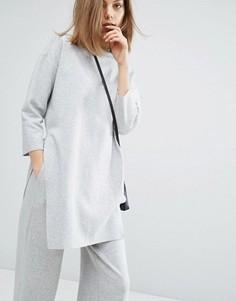 Комбинируемый длинный свитер Dr Denim Rylen - Серый
