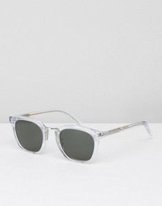Квадратные солнцезащитные очки в прозрачной оправе Monokel Ando - Прозрачный