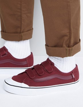 Бордовые кроссовки Vans Black Ball Priz VA2XSZ4QU - Красный