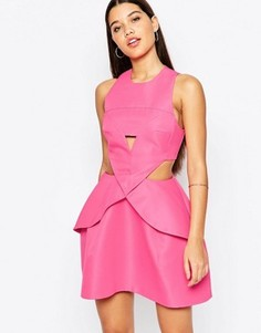 Платье мини со складками спереди AQ/AQ Daria - Розовый
