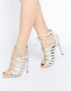 Босоножки на каблуке со шнуровкой ASOS HALLIE - Мульти