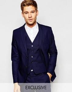 Приталенный пиджак в крапинку Selected Homme Exclusive - Синий