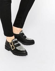 Туфли с пряжками на плоской подошве Miista Bhu - Черный