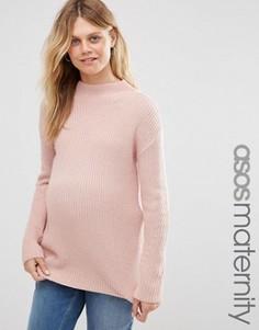 Джемпер с высоким воротом для беременных ASOS Maternity - Розовый