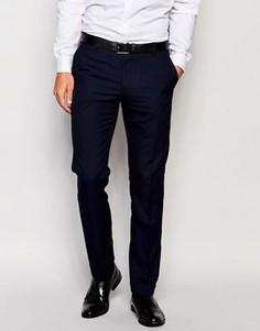 Узкие брюки с подворотами Selected Homme - Темно-синий