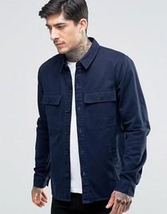 Рубашка с карманом на груди Another Influence - Темно-синий