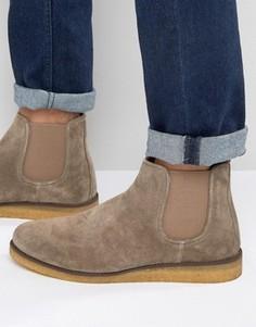 Замшевые ботинки челси Walk London Greenwich - Коричневый