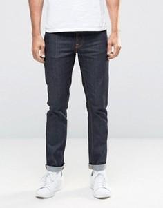 Темно-синие джинсы слим Nudie GrimTim - Темно-синий