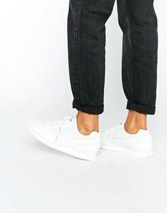 Белые кожаные кроссовки на шнуровке Le Coq Sportif Premium Eclat Quick - Белый