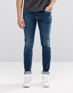 Темные зауженные джинсы Pepe Nickel I47 - Синий
