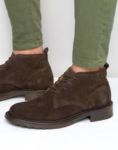Замшевые ботинки Hudson London Garrodd - Коричневый