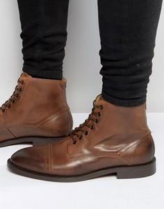 Кожаные ботинки Hudson London Seymour - Рыжий