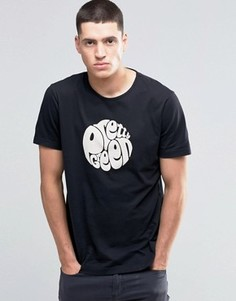 Черная футболка зауженного кроя с принтом логотипа Pretty Green - Черный