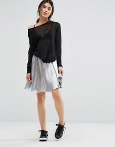 Расклешенная юбка металлик Minimum Moves - Серебряный
