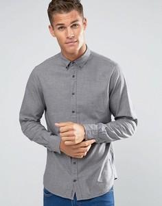 Серая рубашка классического кроя в клетку Tommy Hilfiger NY - Серый