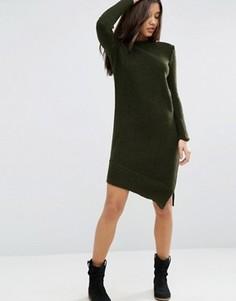 Асимметричное вязаное платье для дома ASOS - Зеленый