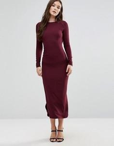 Платье макси с длинными рукавами Twin Sister - Фиолетовый
