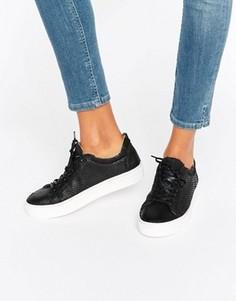 Кожаные кроссовки Selected Femme Donna - Черный
