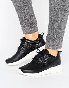 Черные кроссовки Nike Roshe One Premium - Черный