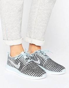 Синие кроссовки Nike Roche 2 Flynit - Синий