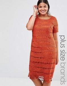 Кружевное цельнокройное платье Lovedrobe - Медный