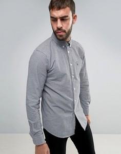 Оксфордская рубашка классического кроя в клеточку Jack Wills - Серый