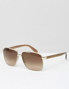 Солнцезащитные очки-авиаторы в квадратной оправе Versace - Золотой