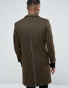 Пальто с молнией сзади Sixth June - Зеленый