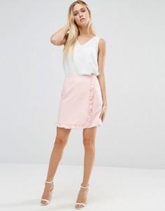 Мини-юбка с оборкой по краю Alter - Розовый