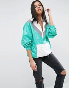 Куртка-дождевик с отделкой цвета металлик ASOS - Мульти