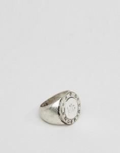 Массивное серебристое кольцо Icon Brand Benoit - Серебряный