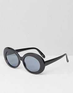 Овальные солнцезащитные очки ASOS - Черный