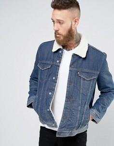 Куртка на подкладке из искусственного меха Levis Type 3 Lucky Town - Синий Levis®