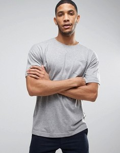 Футболка с заниженной линией плеч и карманом Bellfield - Серый