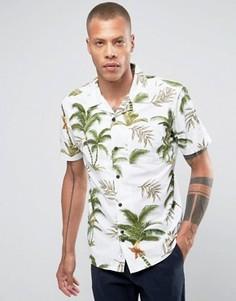 Рубашка классического кроя с гавайским принтом и отложным воротником Bellfield - Белый