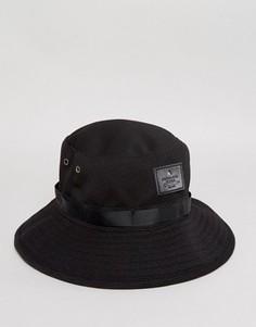 Черная сетчатая панама ASOS Safari - Черный