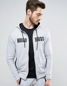 Свитшот с капюшоном и логотипом BOSS Black By Hugo Boss - Серый