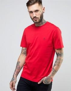 Красная узкая футболка с небольшим логотипом Original Penguin - Красный