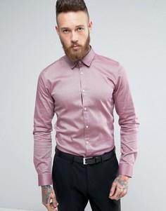 Рубашка узкого кроя из эластичной ткани в крапинку HUGO by Hugo Boss Efin - Красный