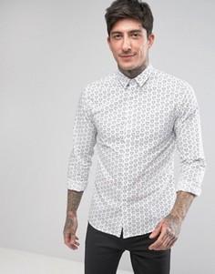 Облегающая рубашка с принтом сердечек Noose & Monkey - Белый