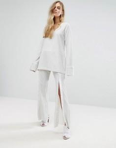 Комбинируемые широкие брюки на кнопках спереди House Of Sunny - Мульти