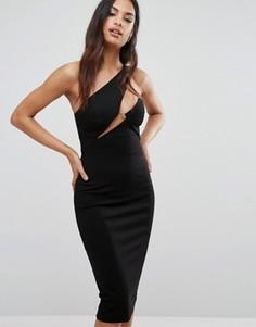Платье миди AQ/AQ - Черный