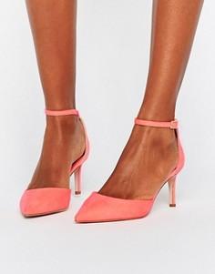 Туфли с острым носком на каблуке ASOS SCOTTY - Розовый