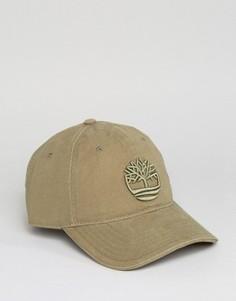 Зеленая бейсболка с большим логотипом Timberland - Зеленый