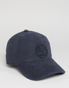 Темно-синяя бейсболка с большим логотипом Timberland - Темно-синий
