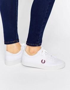 Белые парусиновые кроссовки Fred Perry Spencer - Белый