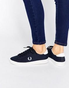 Темно-синие парусиновые кроссовки Fred Perry Spencer - Темно-синий