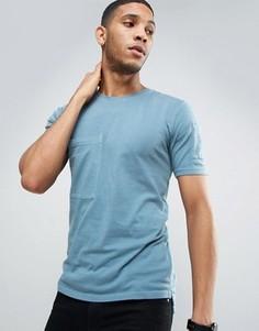 Длинная футболка из органического хлопка с карманами Only & Sons - Синий